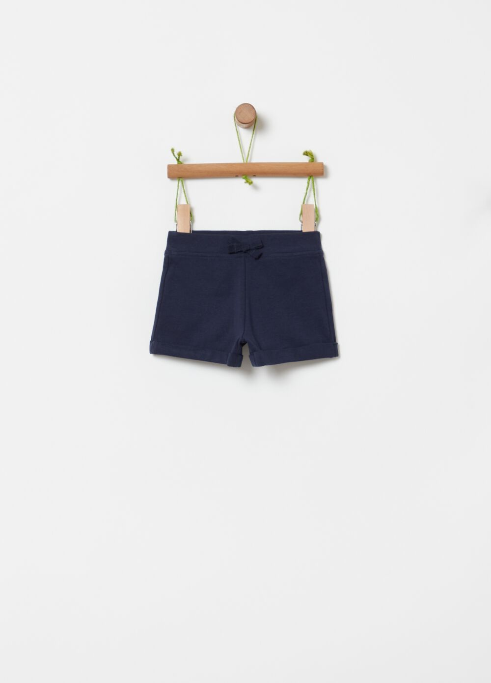 Organic cotton shorts with bow