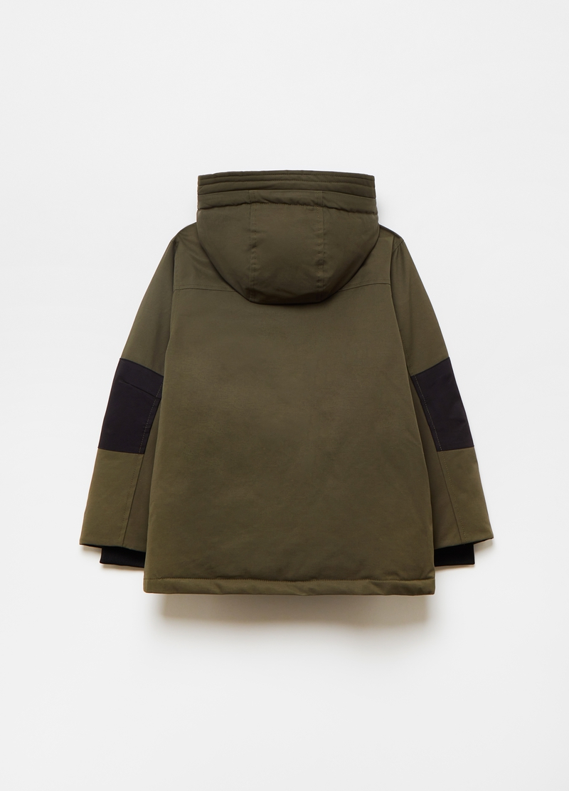 Parka with high collar and hood image number null