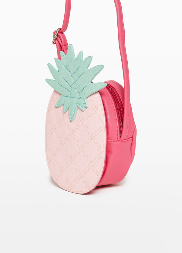 Shoulder bag with pineapple patch