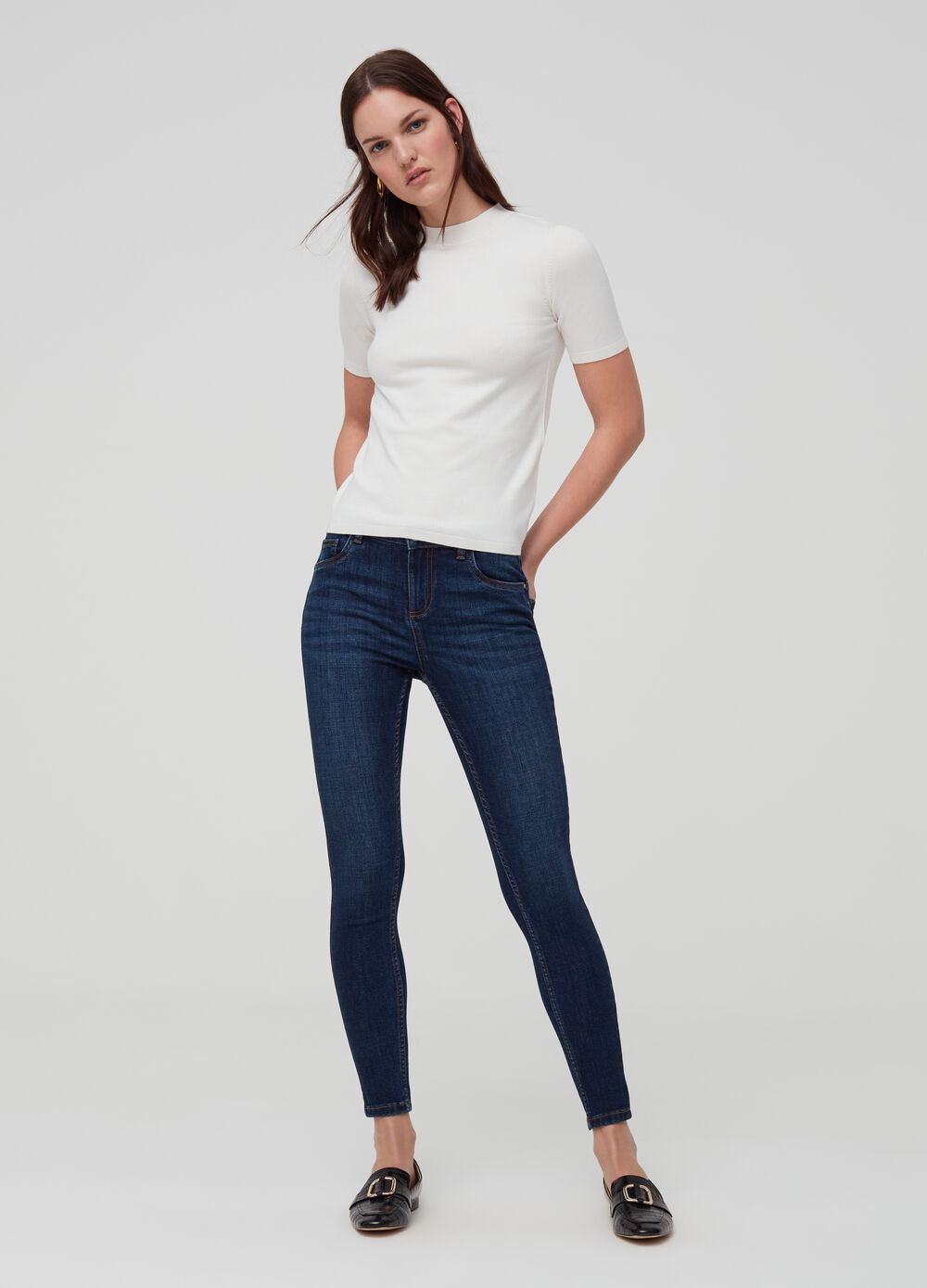 Push-up jeans with five pockets