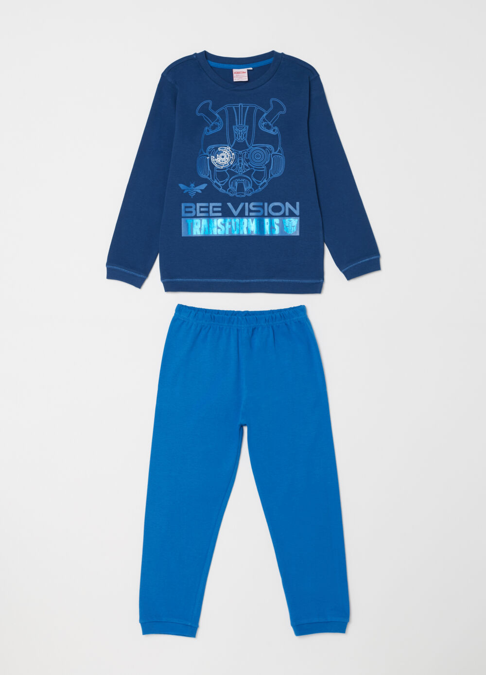 Warm cotton Transformers pyjamas