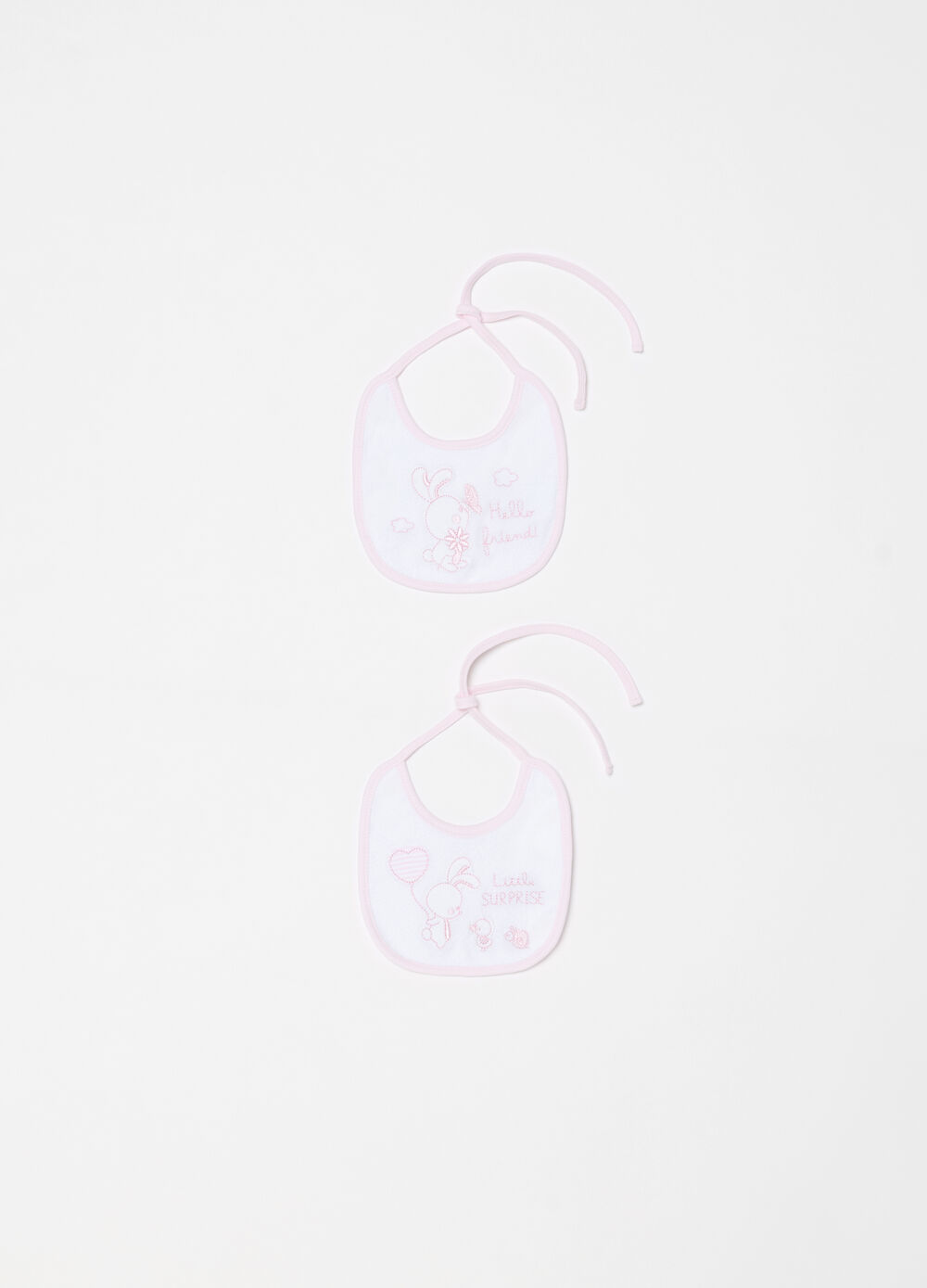 Two-pack BCI bibs with embroidery