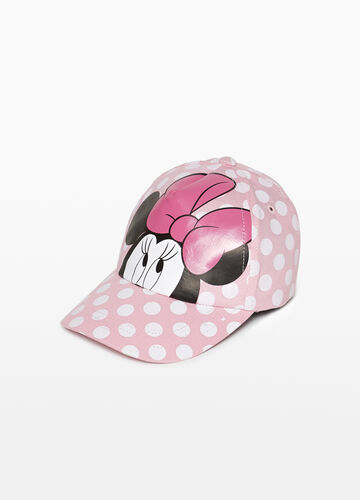 Baseball cap with polka dots and Minnie Mouse