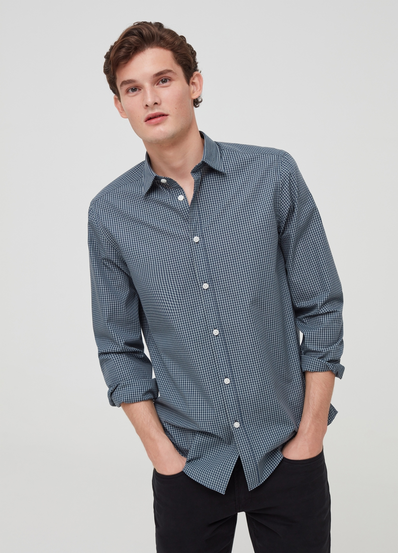 Check cotton blend shirt image number null