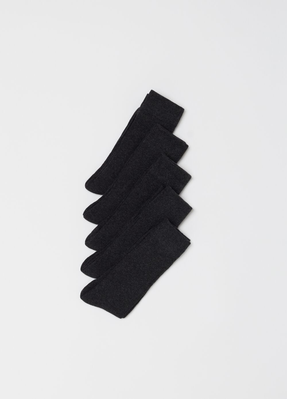 Five-pair pack stretch cotton socks