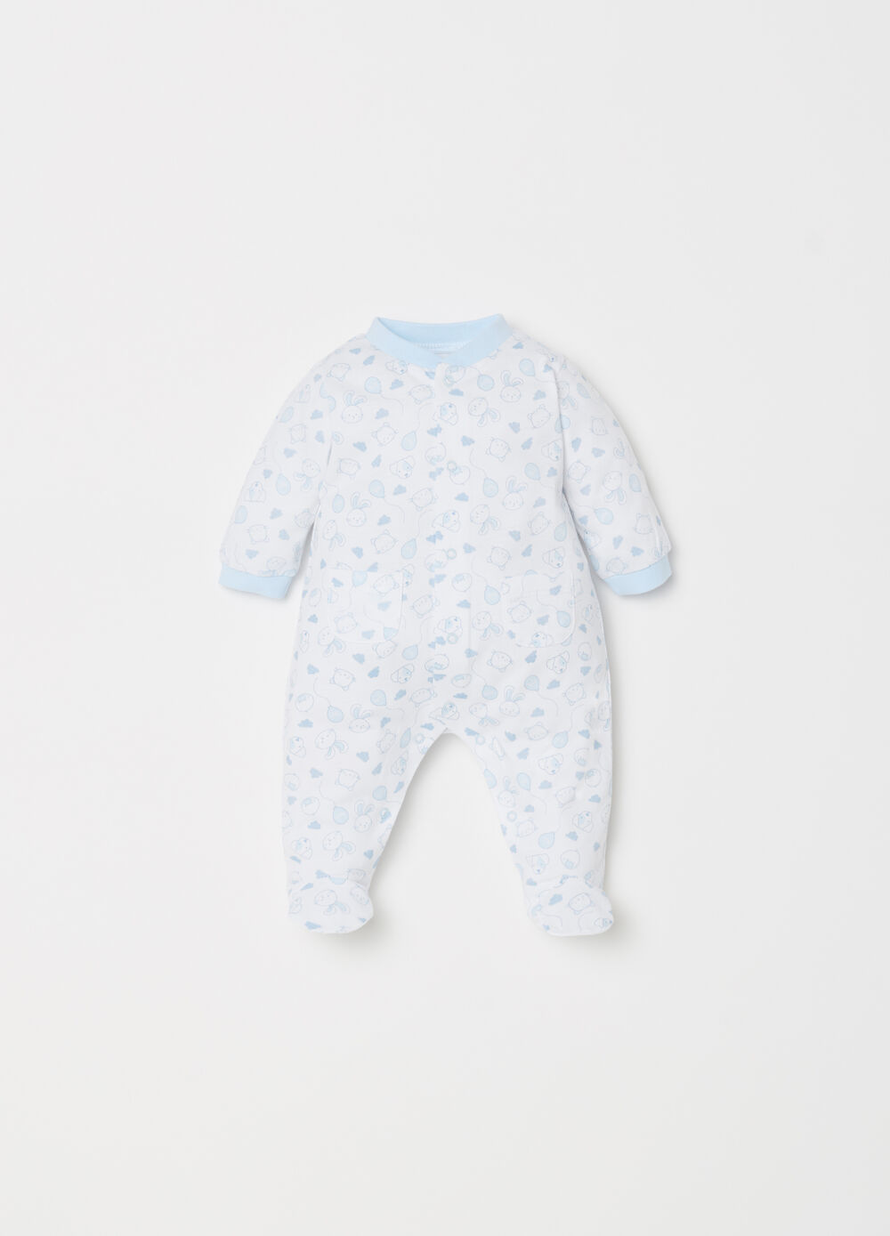 BCI onesie with feet and animal pattern