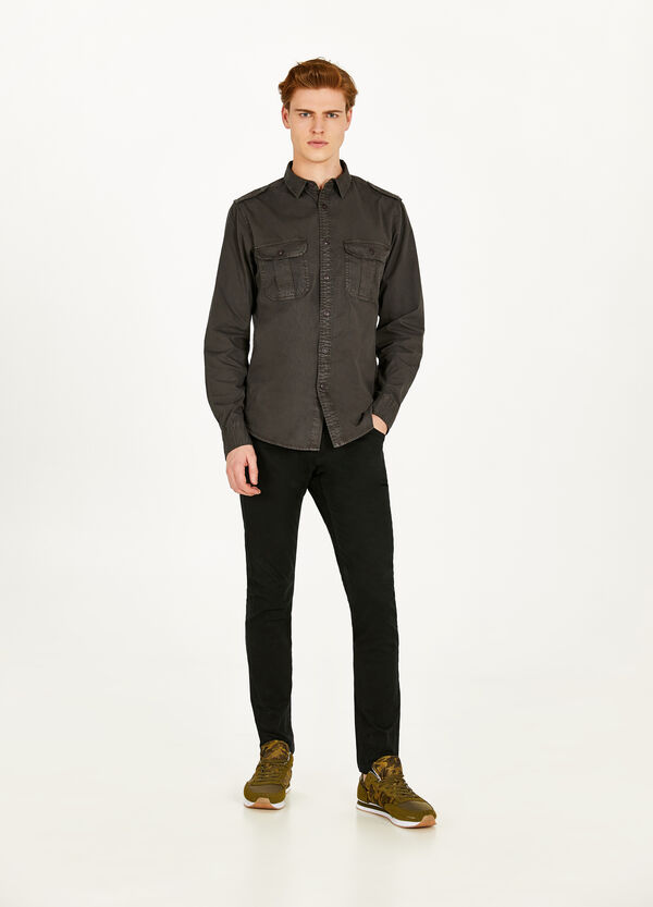 Cotton casual shirt with small pockets