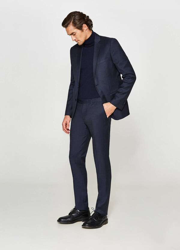 Solid colour, slim-fit suit in 100% wool | OVS