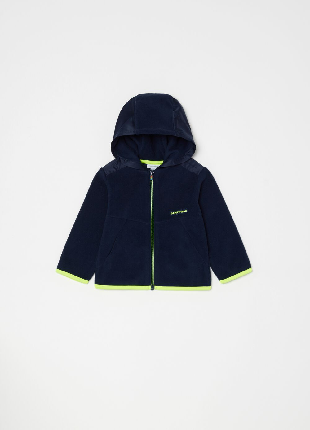 Sustainable fleece sweatshirt with hood