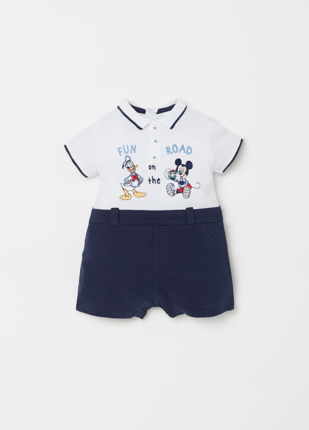 Disney Baby Mickey Mouse and Donald Duck onesie