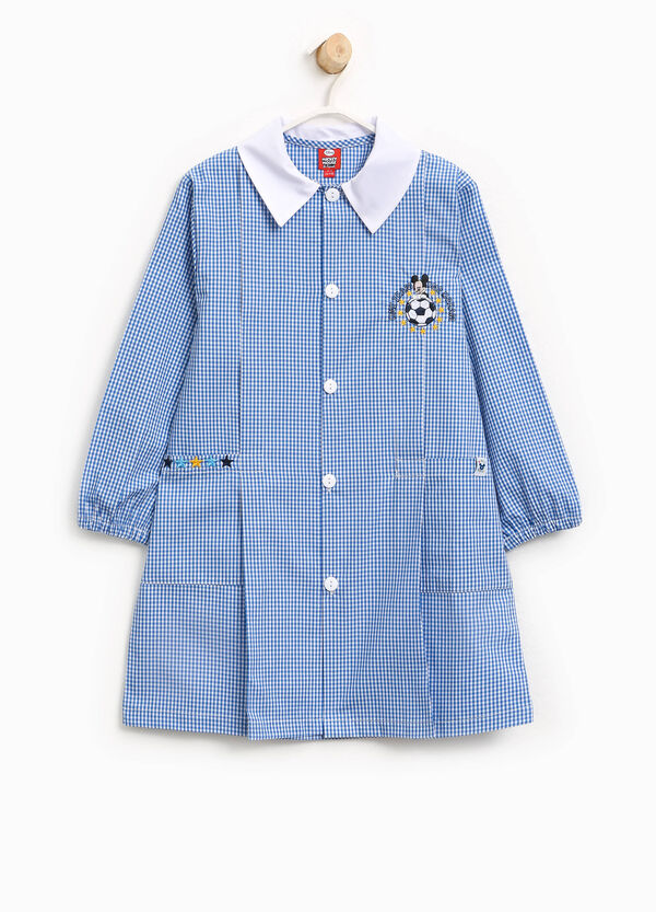 Micro check smock with Mickey Mouse patch | OVS