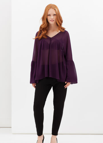 Curvyglam semi-sheer blouse