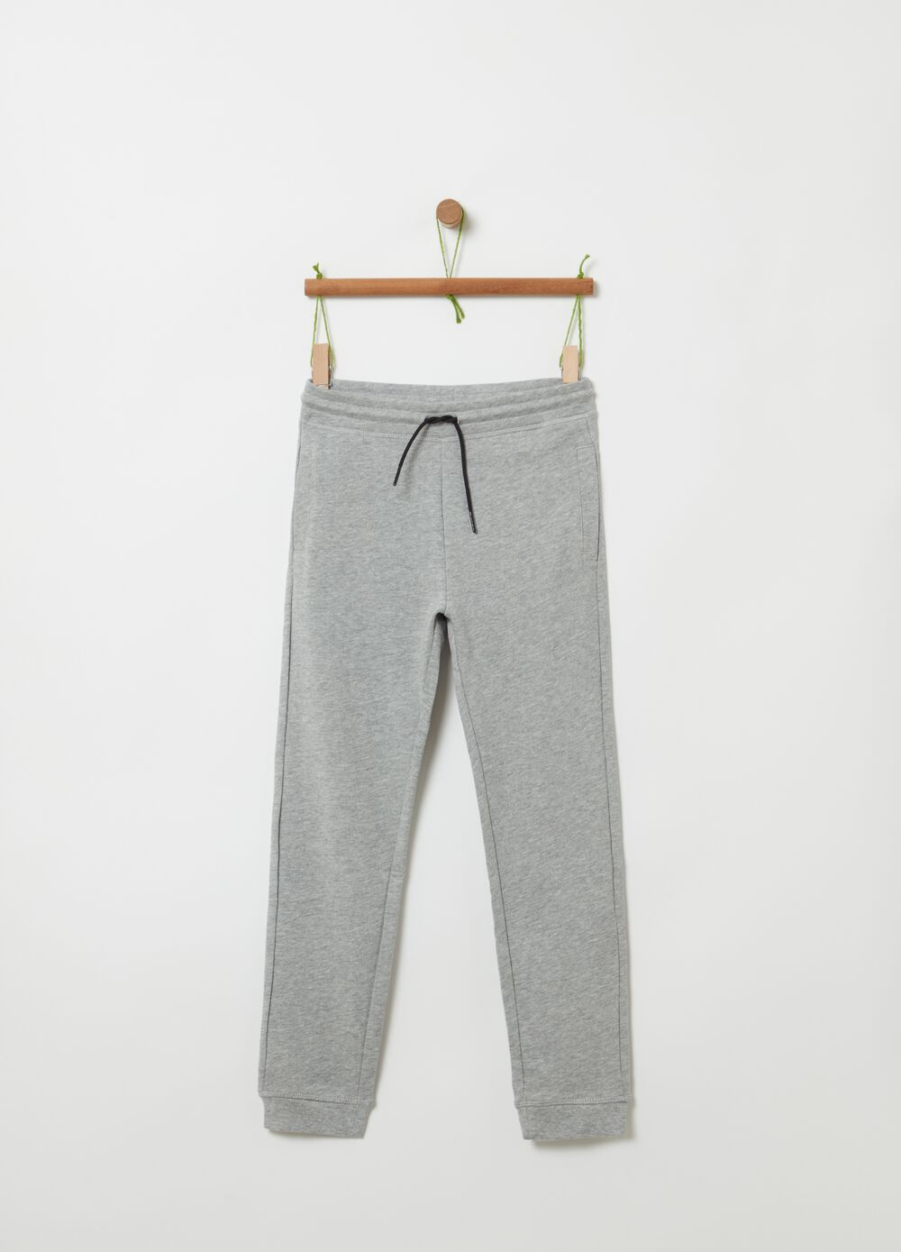 Mélange fleece joggers