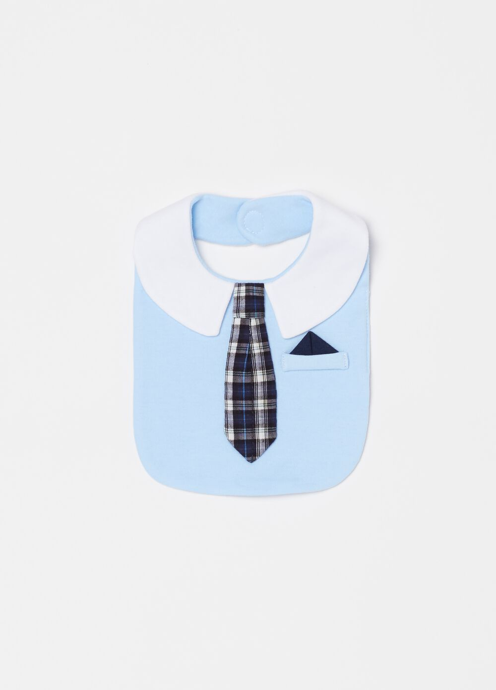 Bib with check tie