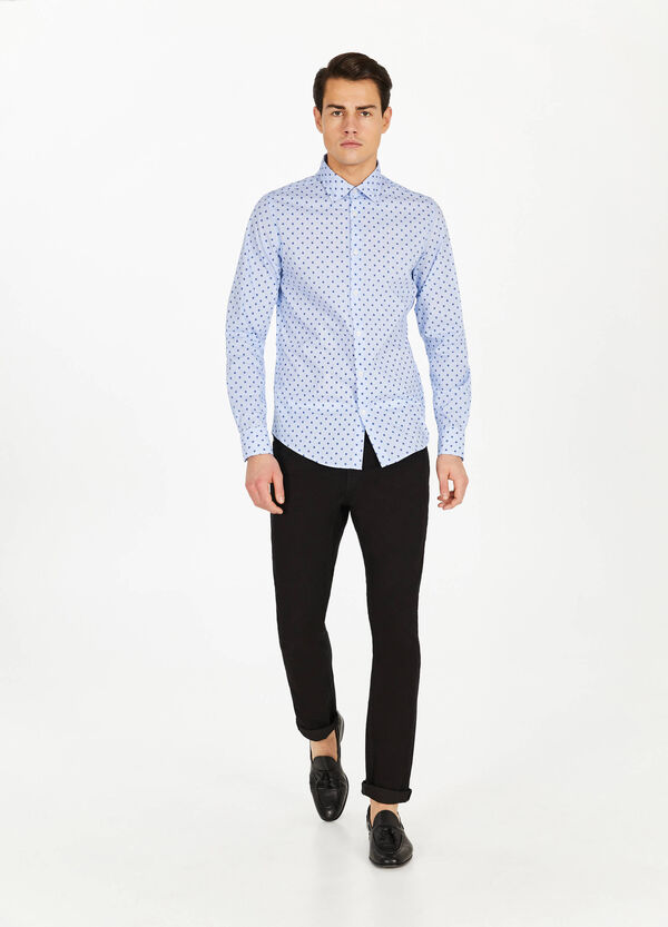 Stripes and flowers casual shirt