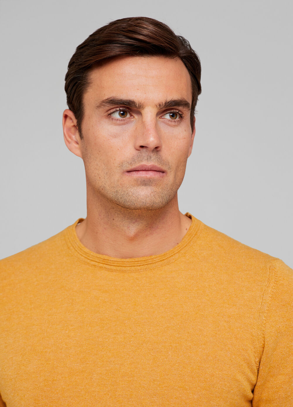 Tencel and wool blend pullover