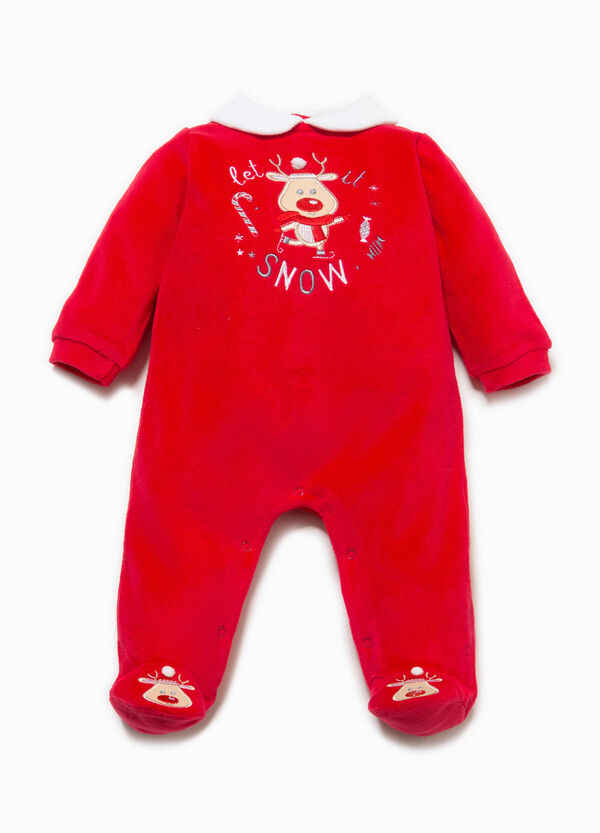 Onesie with feet and Christmas patch