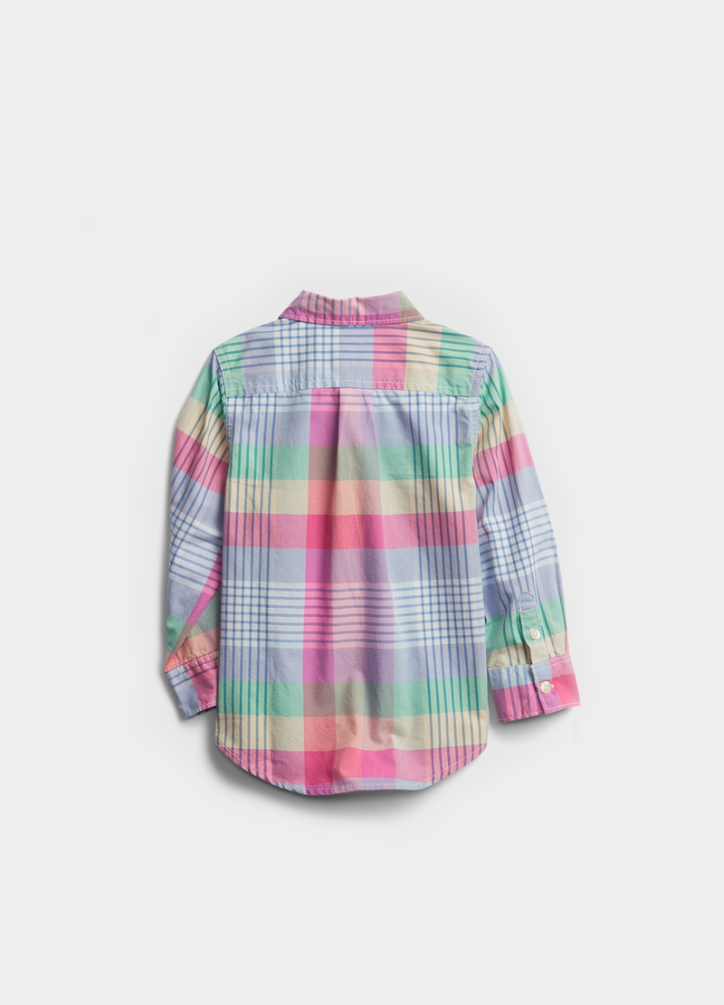 GAP check shirt with button-down collar image number null