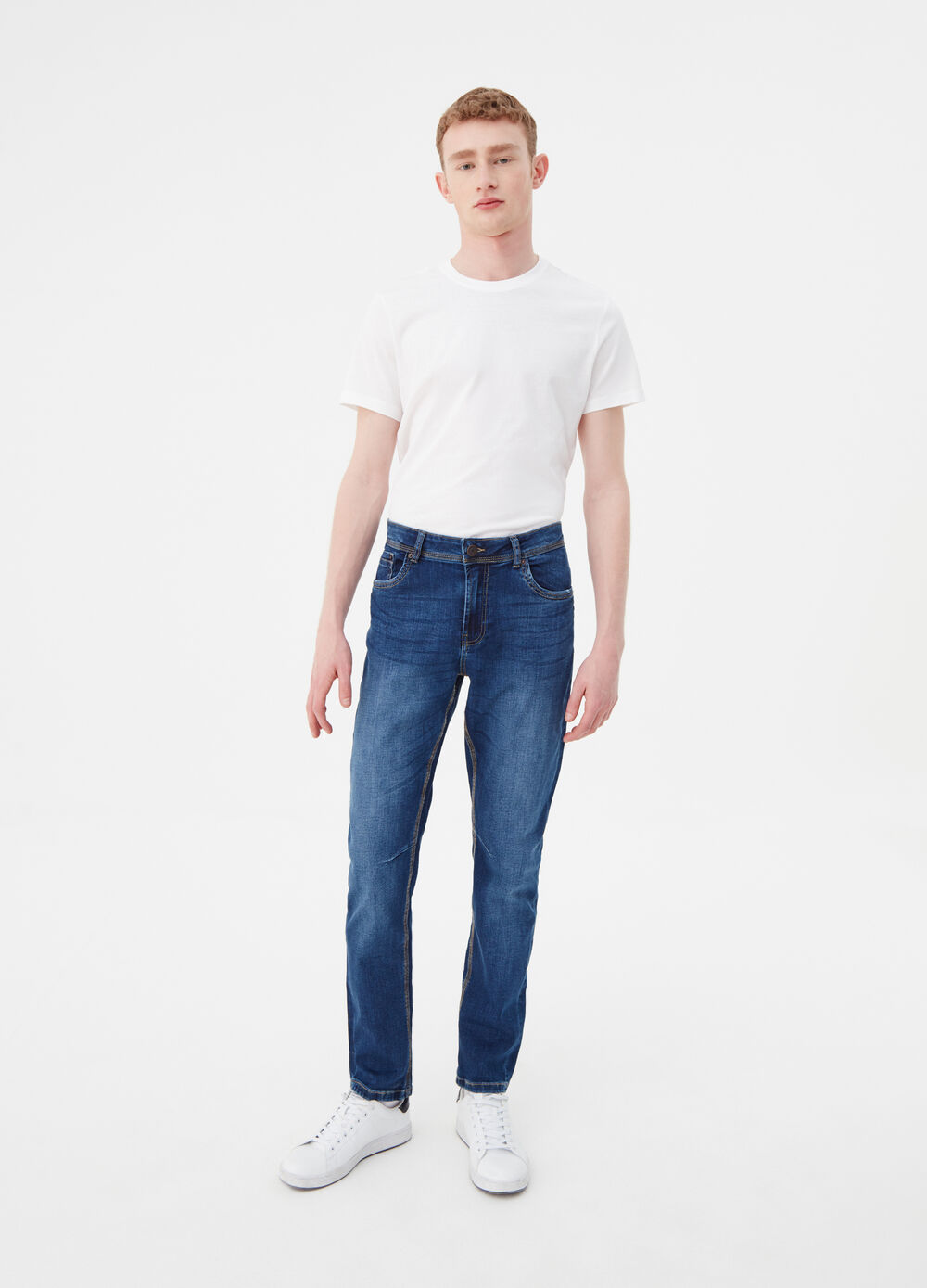 Loose-fit stretch jeans