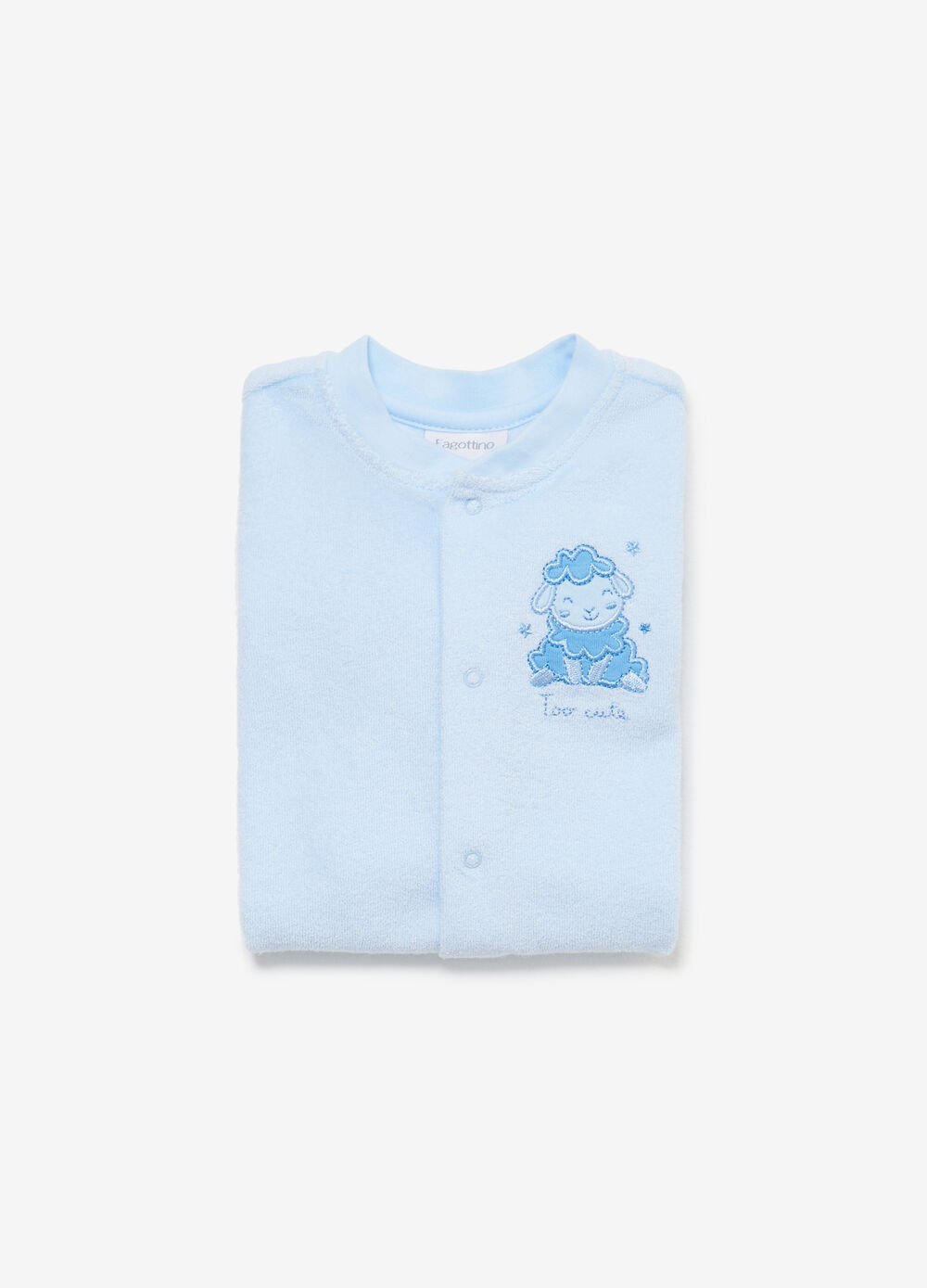 Cotton blend sleepsuit with patch