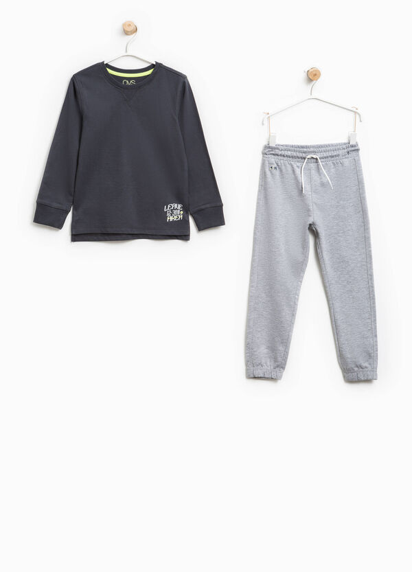 Solid colour tracksuit in 100% cotton | OVS