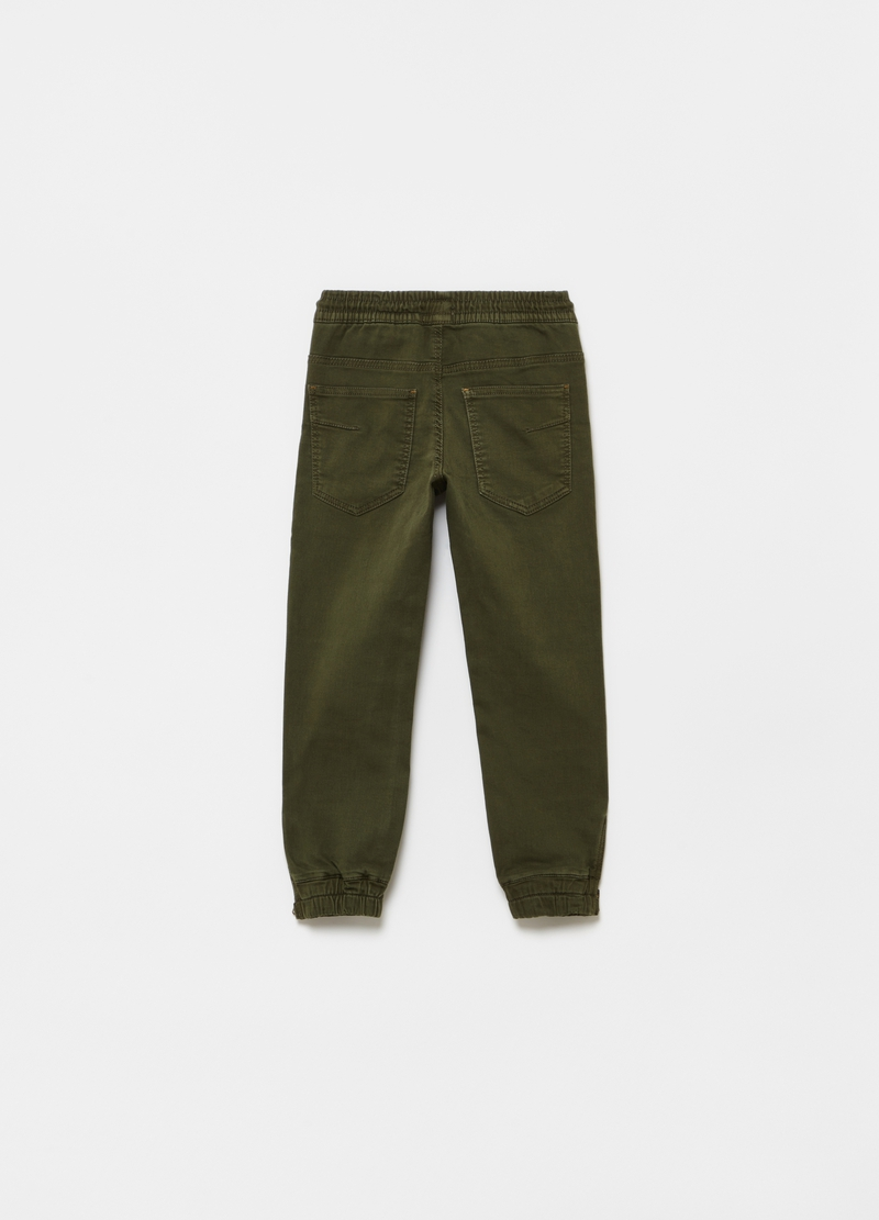Solid colour joggers with zip image number null