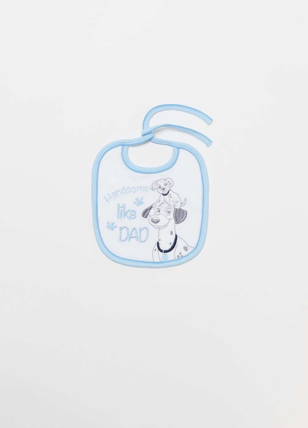 Cotton bib with Disney embroidery
