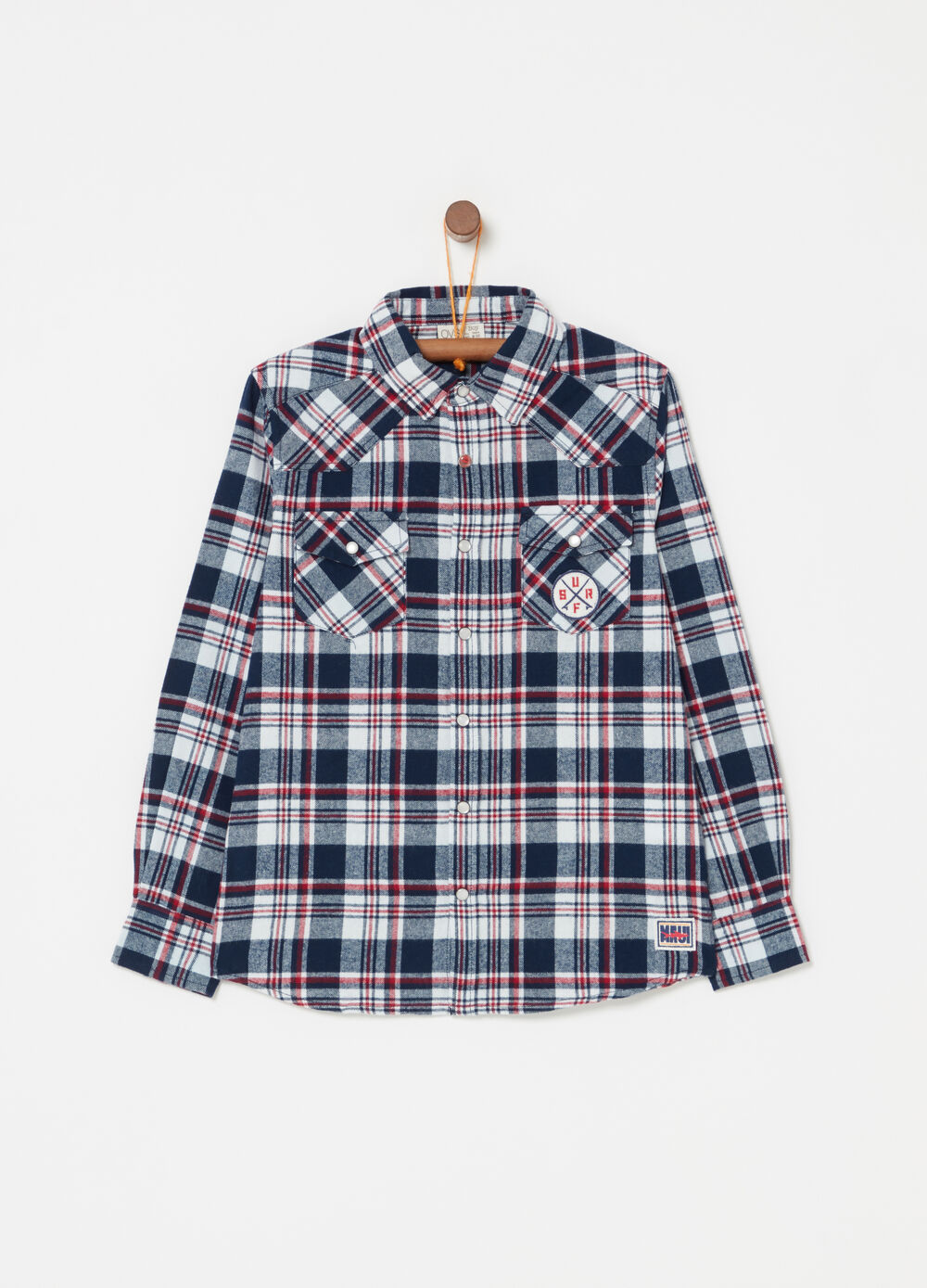 100% cotton flannel shirt by Maui and Sons