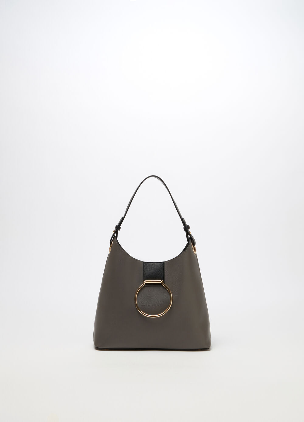 Two-tone hobo bag