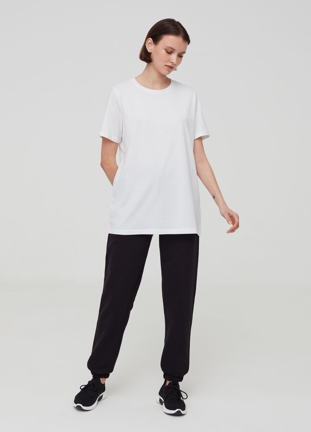 Over-fit T-shirt in 100% cotton