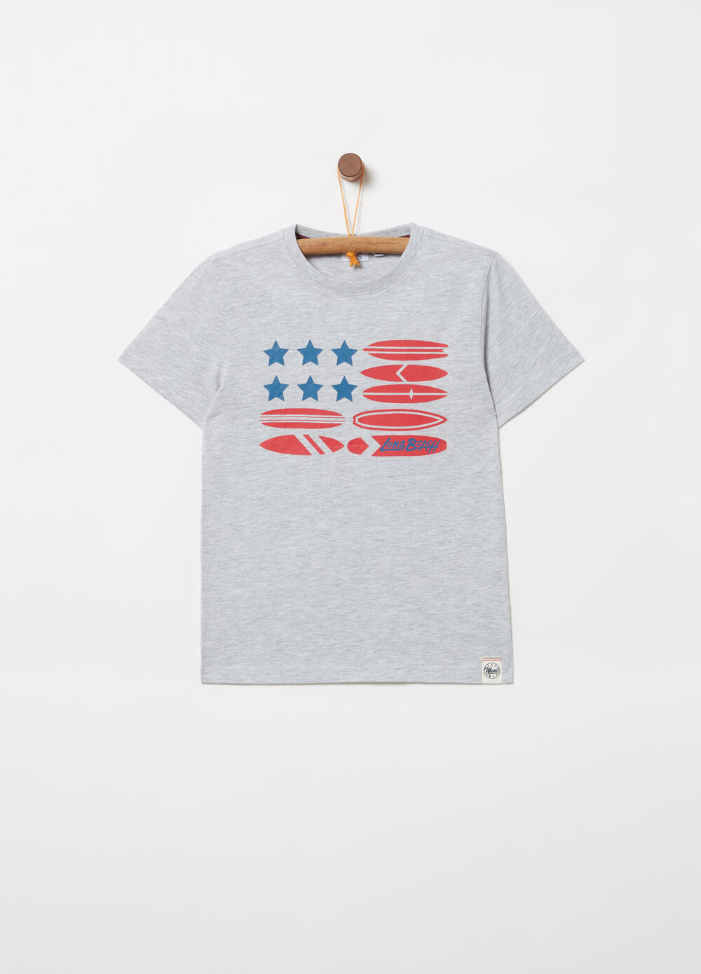 T-shirt in jersey con stampa surf