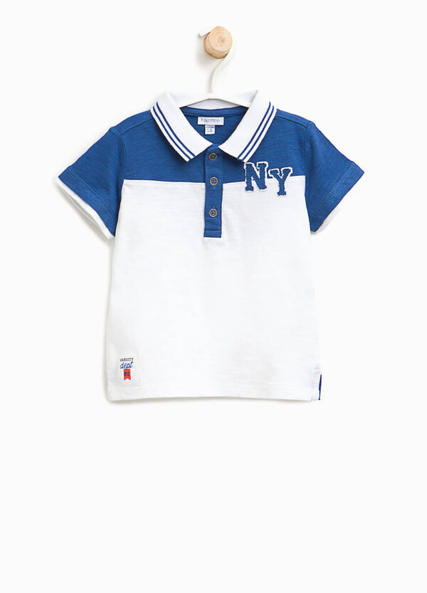 Cotton polo shirt with patches | OVS