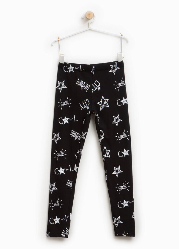 Leggings cotone stretch stampa lettering | OVS