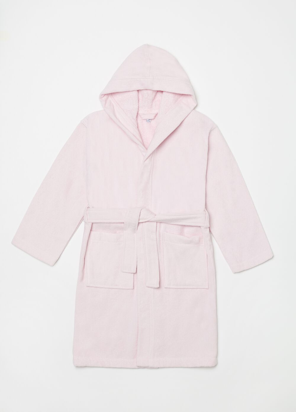 Bathrobe in 100% cotton with hood