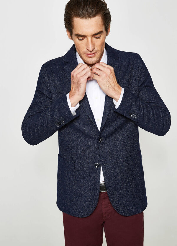 Rumford wool blend speckled jacket