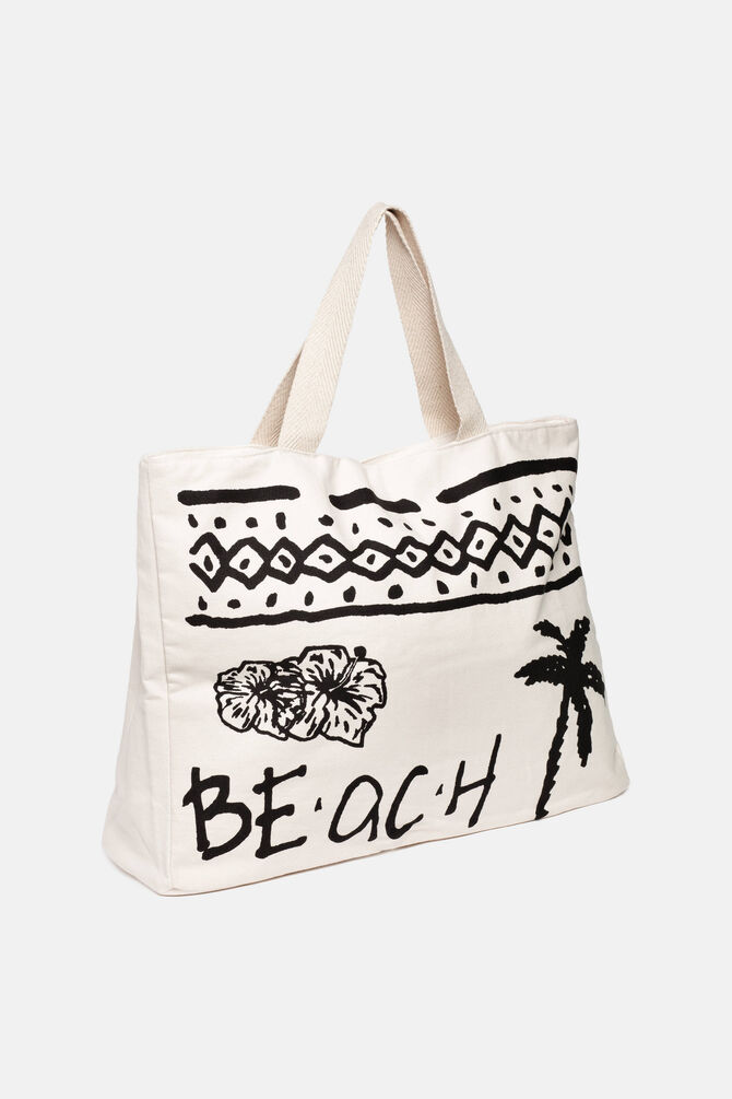 Beach bag with contrasting decorations