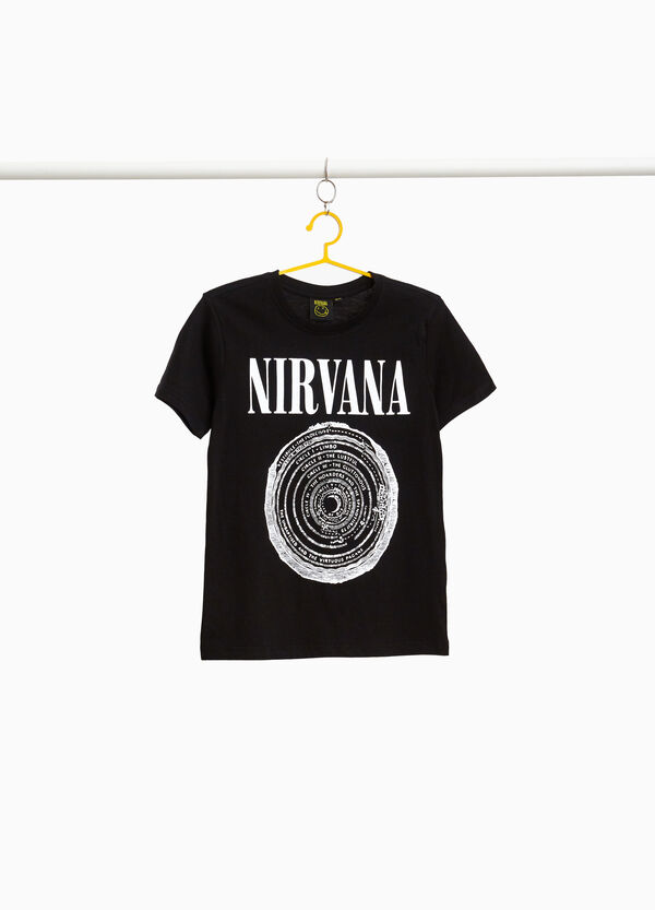 100% cotton T-shirt with Nirvana print
