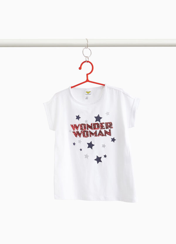 T-shirt with star and Wonder Woman print