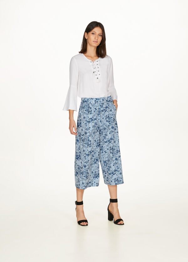 100% cotton gaucho trousers