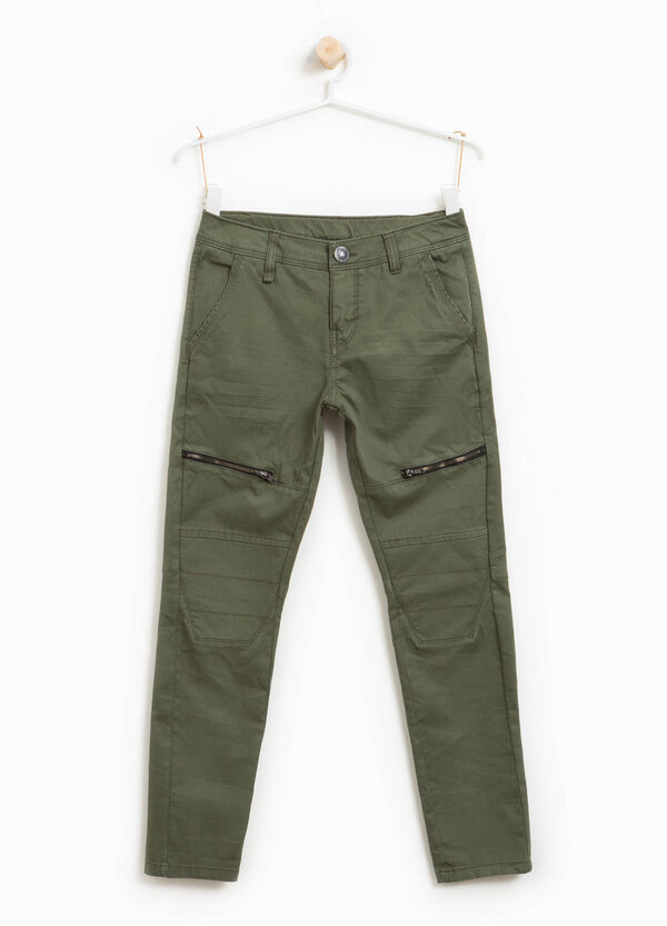 100% cotton joggers with zip | OVS