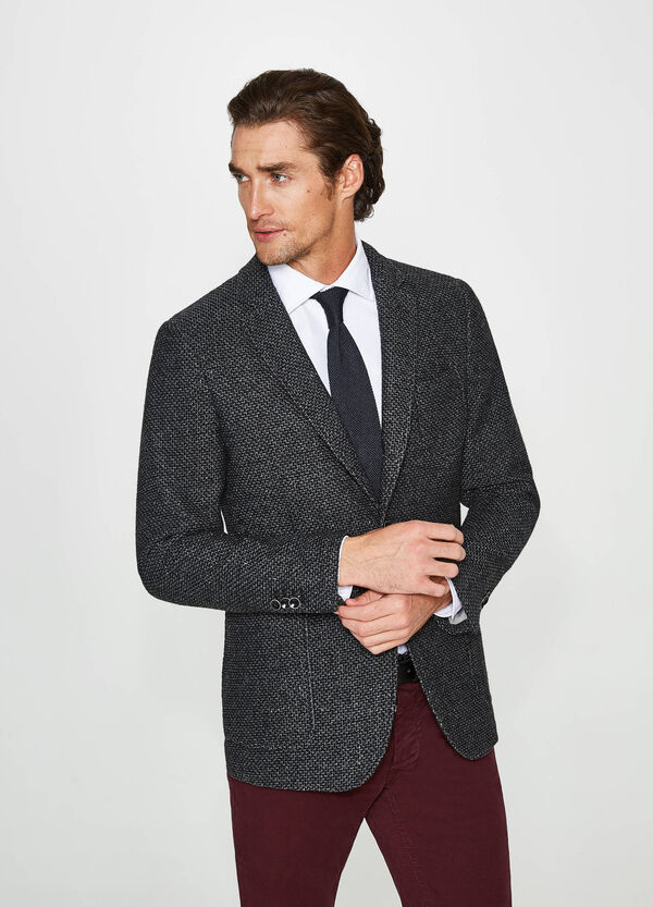 Rumford cotton blend jacket with two-button fastening