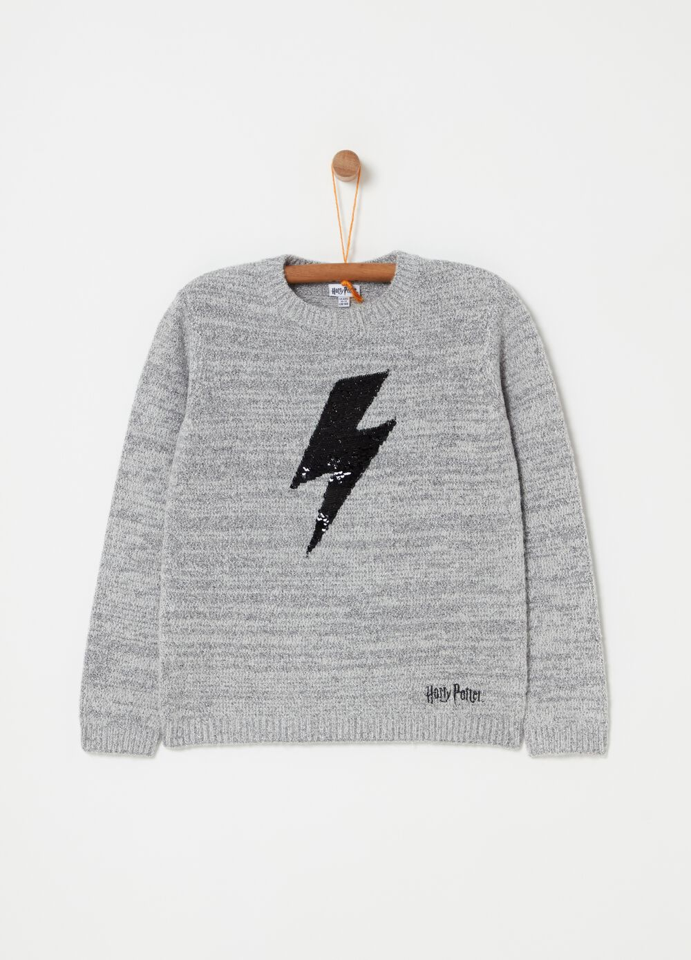 Pullover with lurex and Harry Potter print