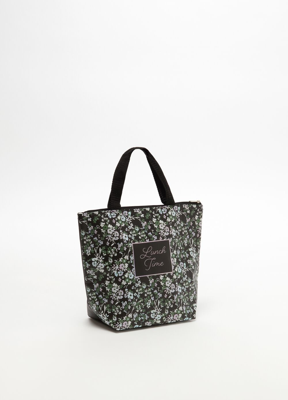 Shopping bag with zip closure