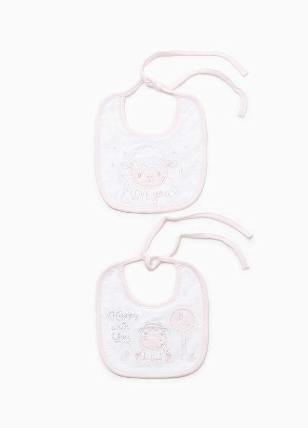 Two-pack animal patch bibs