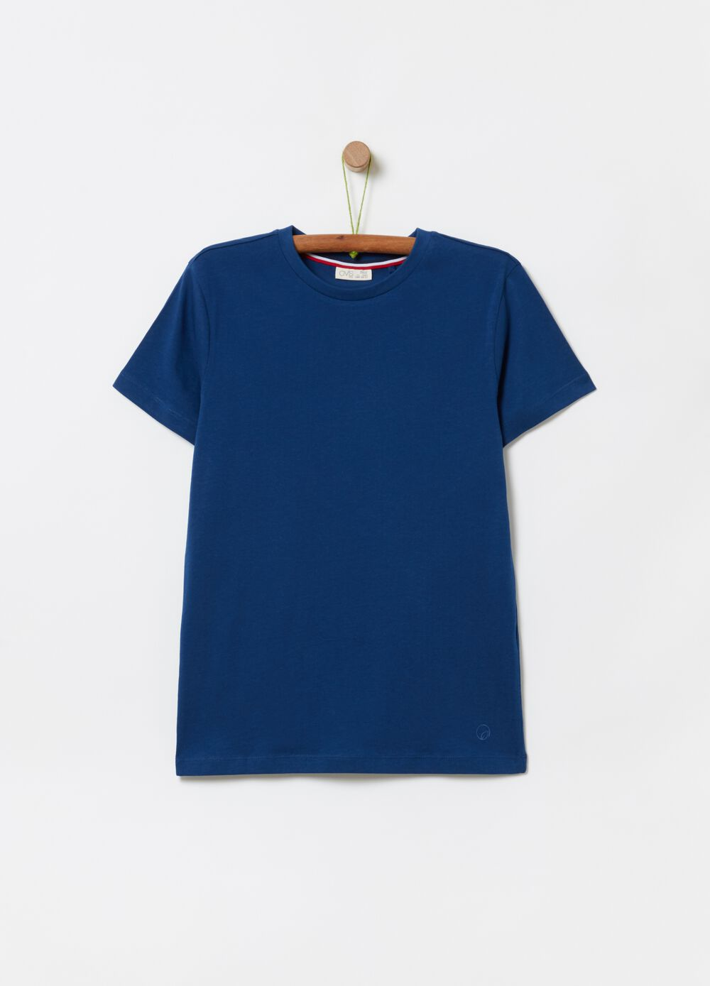T-shirt in 100% organic cotton with round neck