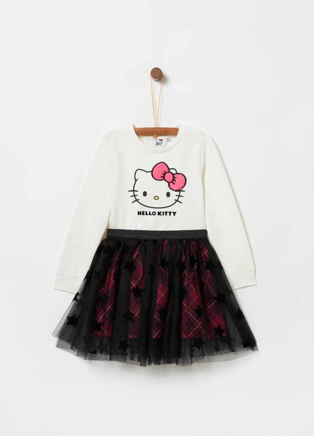 Dress with Hello Kitty print and tulle