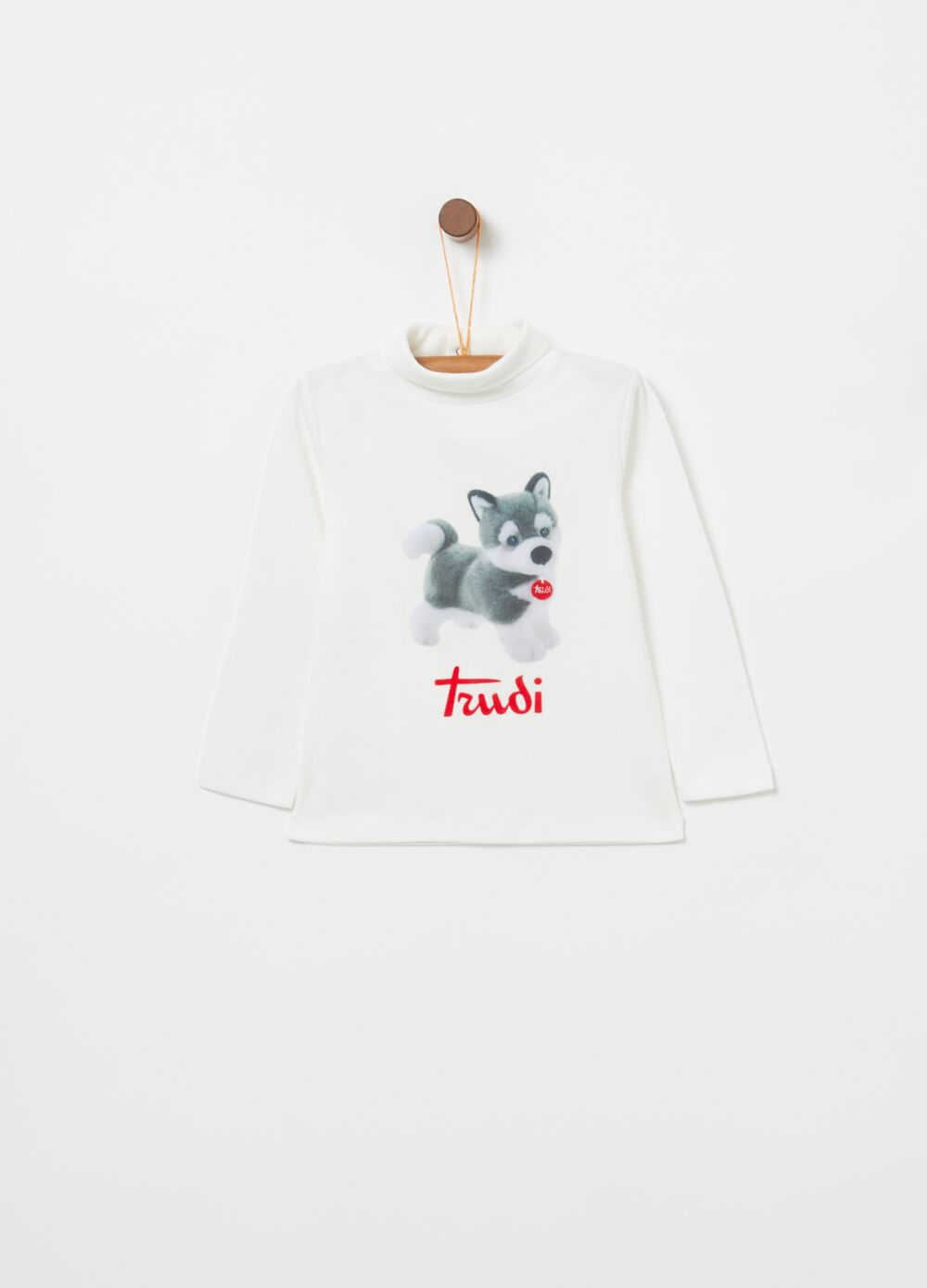 Trudi husky turtleneck jumper in 100% warm cotton