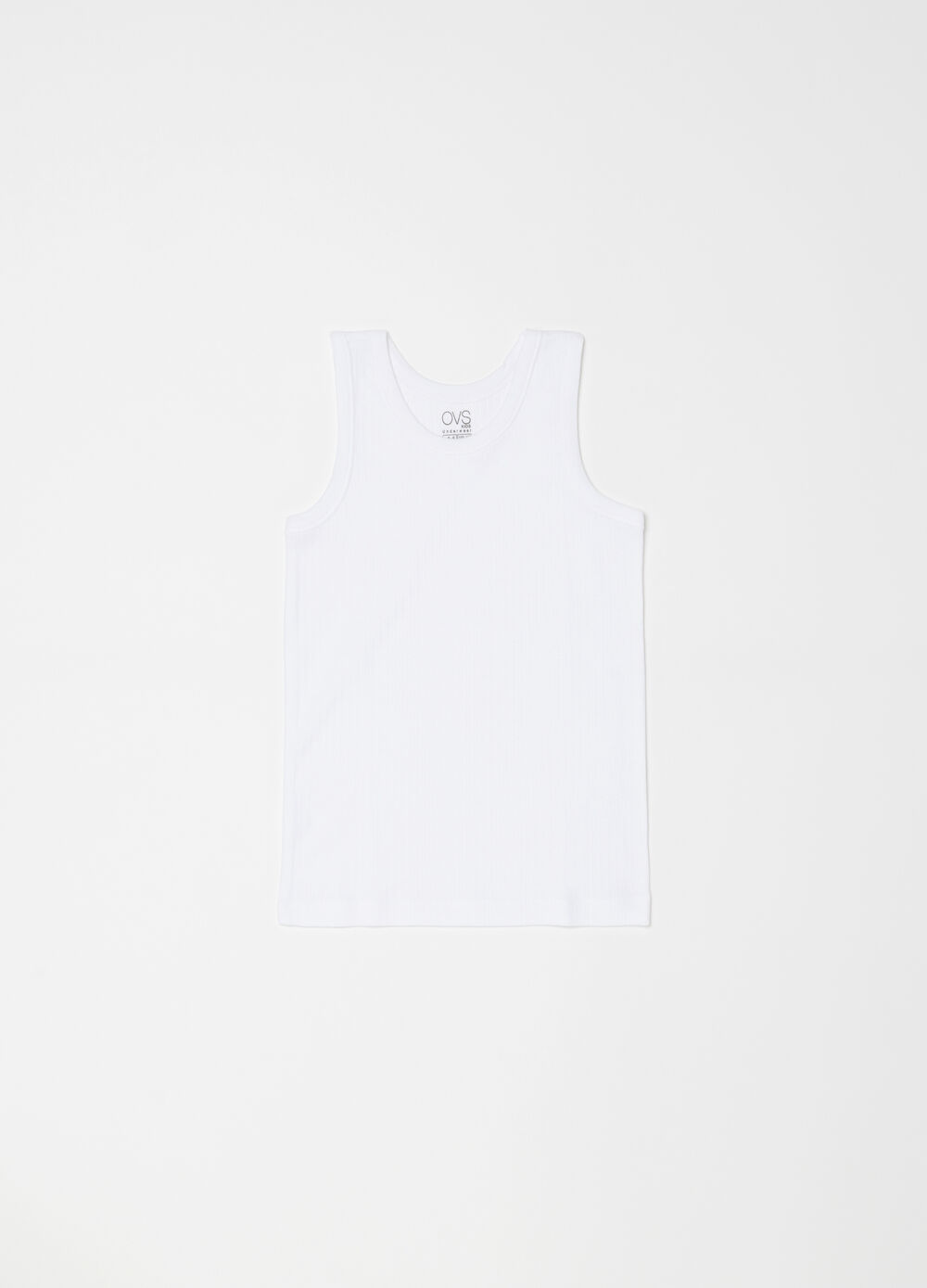 100% organic cotton vest top with round neck