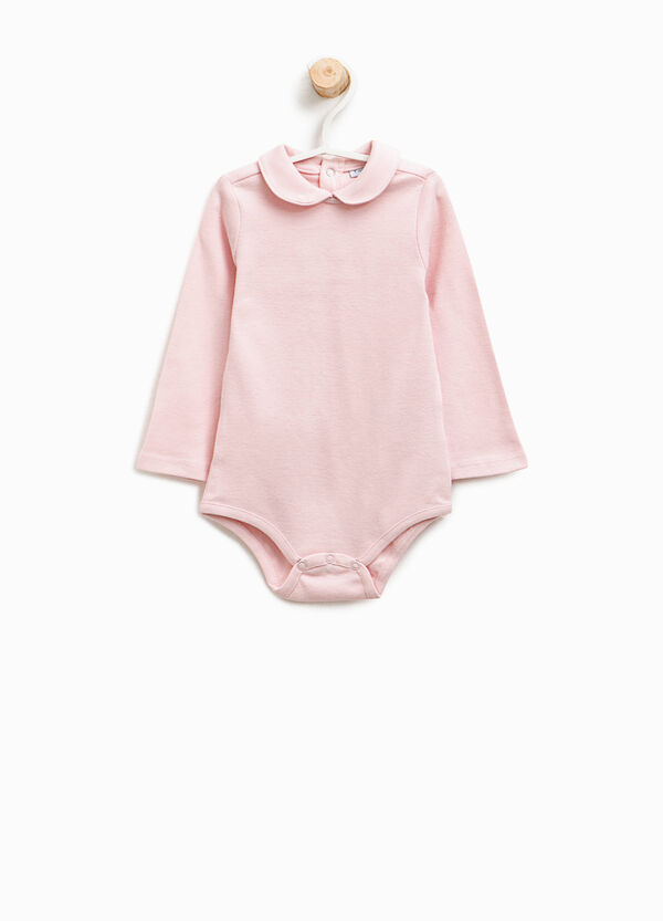 Cotton bodysuit with rounded collar | OVS