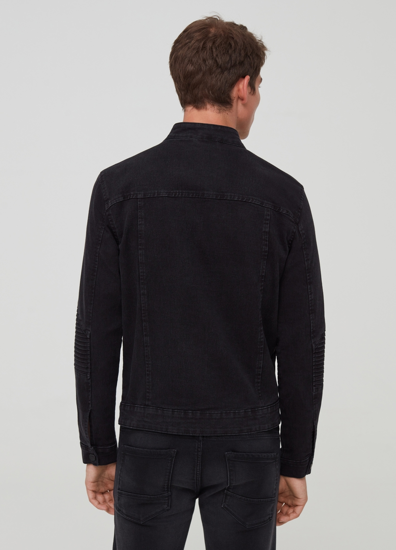Full-zip denim jacket with pockets image number null